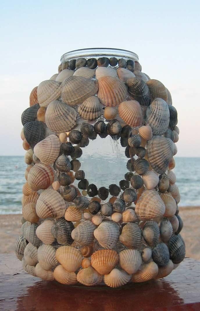 Напольная ваза из трехлитровых банок своими руками